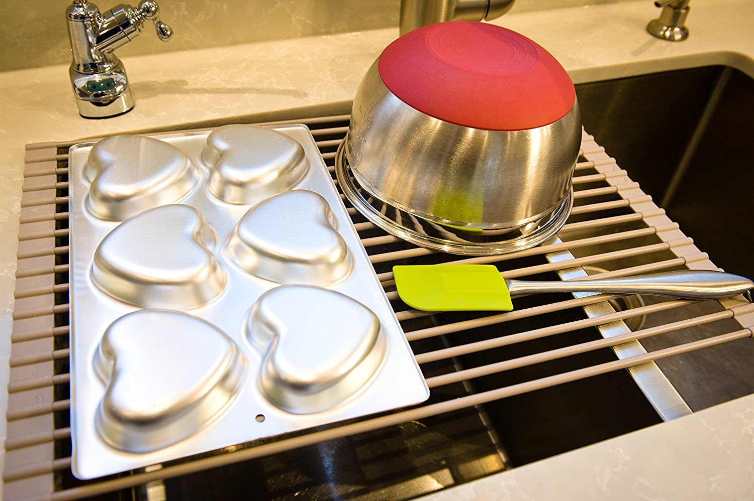 Surpahs Roll-Up Dish Drying Rack